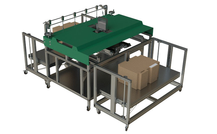 automated gluing in machine